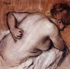 Edgar Degas   The Bather series