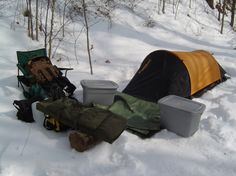 How to Pitch a Tent in the Snow