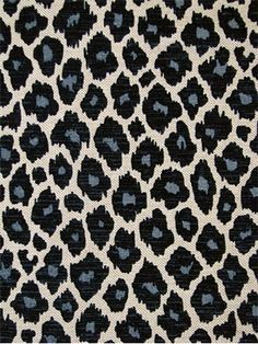 """Simba Navy.  Eco freindly leopard frinf with velvet accents. 15K dbl for durable multi purpose. 66%cot,9%ray,14%acr,11%lyl. 54"""" wide."""