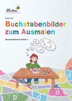 """Ist es nun ein """"D"""" oder nicht? Wie sieht noch einmal ein """"K"""" aus? Schulanfänger benötigen unterschiedlich viel Zeit, die neu erlernten Buchstaben optisch zu erfassen und sie sicher wiederzuerkennen. Unser Material bietet deinen Schülern hier ein reichhaltiges Übungsangebot: 36 Ausmalbilder, die Buchstaben, Umlaute, Zwielaute und Lautverbindungen enthalten. #Lernbiene #Grundschule #Unterrichtsmaterial #Deutsch #Buchstaben #Malen #Anfangsunterricht Learning Centers, Kids Learning, First Grade, Classroom Management, Literacy, Alphabet, Preschool, Kids Rugs, Teaching"""