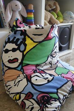 #tutorial #Poltrona a sacco bimbi - http://www.amando.it/mamma/figli/poltrona-sacco-bimbi-fai-da-te.html