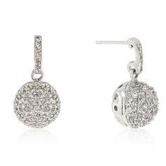 CZ Ball Dangle Earrings