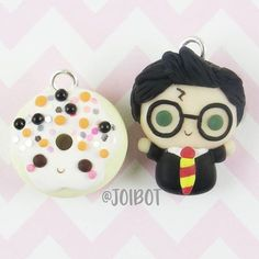 Harry Potter & the Happy Donut- someone write me this book Day 28: Donut Day 29: Wizard - I'm obsessed with Harry Potter. Not super obsessed, but just a little  #kawaiioctober17 #donuts #harrypotter #Halloween #polymerclay #polymerclaycharms #polymerclaycreations #kawaii #chibi #nerdy #cute #handmade #crafty #etsy #premo #sculpey #fimo
