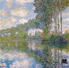 (France) Poplars on the Epte by Claude Monet Scottish National Gallery in Edinburgh. Art Through The Ages, Art Club, Claude Monet, Famous Artists, Landscape Paintings, Landscapes, House Painting, Art Day, Oeuvre D'art