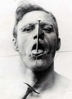 #6 Pierced Man                                                                               21 Vintage Sideshows That Will Haunt You, Especially #7 | SF Globe