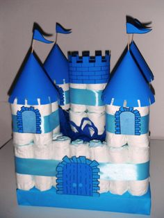 Diaper cakes - Tarta de Pañales - Baby Shower gifts and crafts