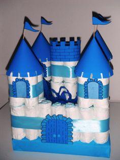 Castillo de pañales con torre!