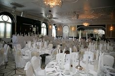 Langtons Ballroom Wedding Locations, Wedding Reception, Table Settings, Chandelier, Ceiling Lights, Home Decor, Marriage Reception, Candelabra, Decoration Home