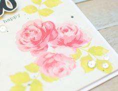 Altenew: Vintage Rose Card