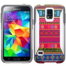 Otterbox Commuter Series Aztec Andes Pink Pattern Hybrid Case for Samsung Galaxy S5 //  Description This OtterBox® Commuter Case is made up of a durable 2 piece set that combines a sturdy silicone skin that lines your phone and a hard polycarbonate shell