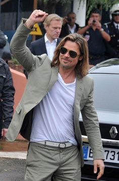 Brad Pitt Photo - Brad Pitt Greets Fans in Cannes