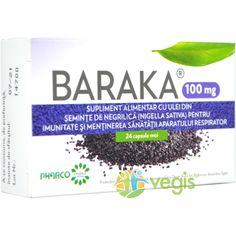 Baraka 100mg Negrilica (Chimen negru) 24cps moi Negril, Nigella, Personal Care, Natural, Self Care, Personal Hygiene, Nature, Au Natural