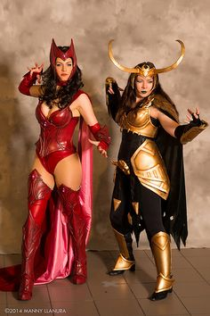 Scarlet Witch & Rule 63 Loki ~ Cos Play