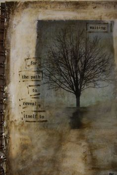 revealing...found story/ poetry in altered book