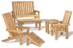 Landscape Timber Furniture  Need to make some of these!