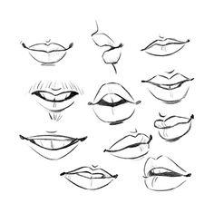 Pin By Sabrina C On Drawing Lips Drawing Mouth Drawing Cartoon Drawings