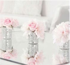 silver and pink...