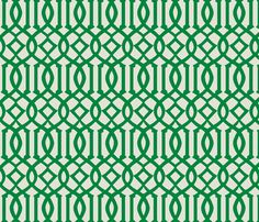 Imperial Trellis-Green-reverse fabric by melberry on Spoonflower - custom wallpaper. $60/roll