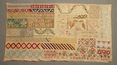 A 19tj Century MEXICAN Sampler Stitched By Maria Tereza Perez & Dated 1838