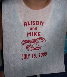 absolutely perfect! this site has lots of designs for disposable crawfish bibs