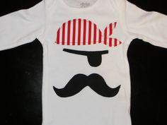 Pirate baby onesie one piece bodysuit creeper by HatchersHipsters, $17.00