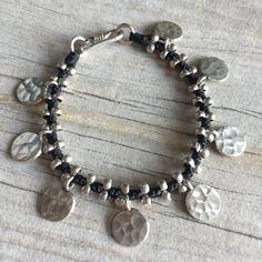 Zilveren parel armband Zilveren armband zilveren door AkashiJewelry