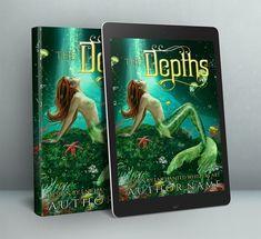 premade mermaid cover art design Premade Book Covers, Book Cover Design, Cover Art, Mermaid, Fantasy, Prints, Imagination, Fantasy Books, Cover Design