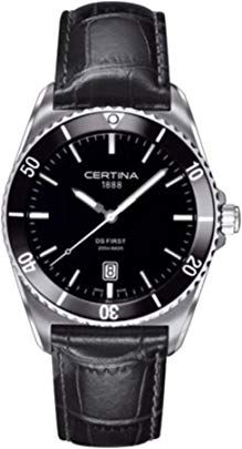 Certina Watch DS First Gent Ceramic Quartz Mens Watches Leather, Watches For Men, Matches Today, Black Bracelets, Latest Jewellery, Beautiful Watches, Fun To Be One, Luxury Watches, Quartz Watch