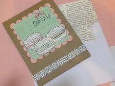 stamp. craft. pin.: Newsprint Macarons!  http://stampcraftpin.blogspot.com/2013/06/newsprint-macarons.html