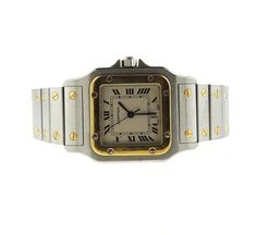 Cartier Santos 18k Gold Steel Watch Featured in our upcoming auction on November 3!