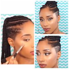 My next hairstyle.... Cornrows with shaved sides and back