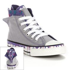 Converse All Star Zip-Back High-Top Sneakers for Girls