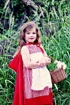 Little Red Riding Hood Costume- Dress and Hood- Toddler, Girl. $45.00, via Etsy.