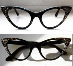 Cat Eye glasses with rhinestones