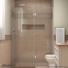 DreamLine Unidoor-X 51-in to 51-in Frameless Hinged Shower Door