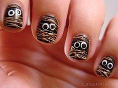 DIY halloween nails: DIY Halloween nail art : Halloween Nail Art Challenge: Mummy