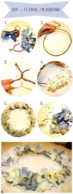 DIY :: Floral Headband~~I think i will use it for my bed... or mirror...~