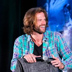 Jared at the J2 Panel #PittCon2016 I love it when he laughs!