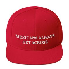 This high quality hat is structured with a classic fit, flat brim, and full buckram. The adjustable snap closure makes it a comfortable, one-size-fits-most hat. Order this MAGA syle hat now! Snapback Hats, Beanie Hats, Embroidered Caps, Mexicans, Caps Hats, Baseball Hats, Ebay, Baseball Caps, Snapback