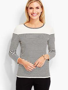 Regatta-Stripe Sweater | Talbots