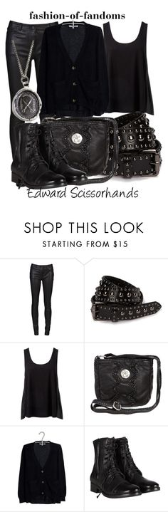 """""""Edward Scissorhands"""" by fofandoms ❤ liked on Polyvore featuring T By Alexander Wang, Style Butler, Forever New, Rip Curl, Sandro, AllSaints, Pyrrha, johnny depp, tim burton and edward scissorhands"""