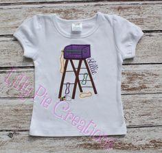 Custom Boutique Mardi Gras Ladder Applique shirt