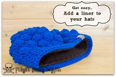 BACKING // Add a liner to your hats [Playin' Hooky Designs: Tips and Tricks]