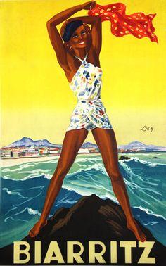 ¨Poster     Biarritz  Don    Circa 1930