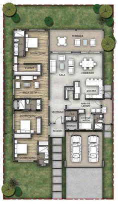 Ez is az! Modern House Floor Plans, Sims House Plans, Home Design Floor Plans, House Layout Plans, Home Building Design, Family House Plans, Bedroom House Plans, Dream House Plans, Small House Plans