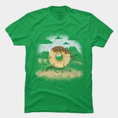 A donut-unicorn just out on the range.  Made me laugh.  Mr. Sprinkles T Shirt By Littleclyde @designbyhumans