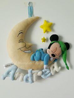 Fiocco nascita mickey mouse felt