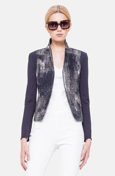 Akris punto Pixel Print Cotton Techno Jacket available at #Nordstrom