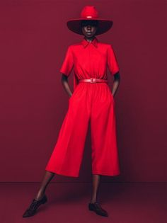 EDITORIAL | RED HOT: NYKHOR PAUL FOR MARIE CLAIRE SA