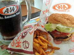 Burger chain A&W sees a big jump in sales at established restaurants, bucking the trend of flattening sales for fast food operators. Burger Party, Burger And Fries, Burgers, A&w Restaurants, All American Food, Food Porn, Dont Forget To Smile, Fast Food Chains, Kitchens